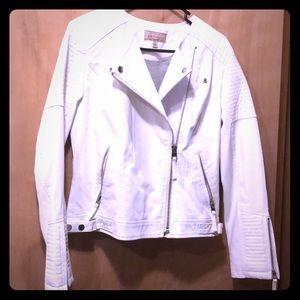 White Philosophy Leather Jacket Size 8